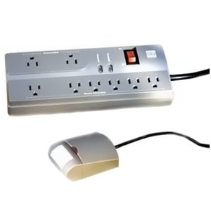 Wattstopper IDP-3050-A Power Strip, 8-Outlet, with Automatic-On Sensor