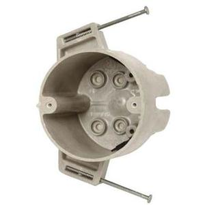"""Allied Moulded 9351-NGK 4"""" Round Ceiling/Fixture Box, Depth: 2-7/16"""", Nail-On, Non-Metallic"""