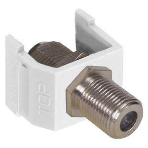 Hubbell-Premise NSF70W Snap-In, A/V Jack, F-Connector, White