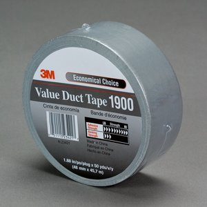 "3M 1900-48MM Value Duct Tape, Silver, 1.88"" x 50 yd"