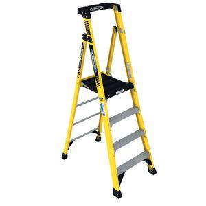 Werner Ladder PD7304 Podium Step Ladder, 4', 375 lbs