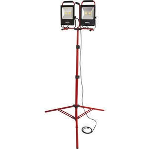 Bayco Products SL-1530 LED Dual Fixture Work Light, 10000 Lumen, 8' Tripod Stand