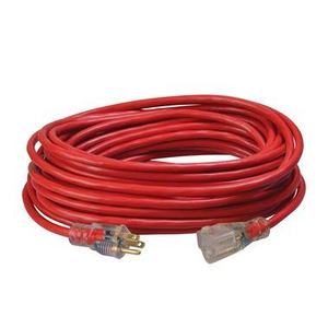Coleman Cable 2488SW8804 SJTW Extension Cord, Lighted End, 14/3, Weather Resistant, 50'