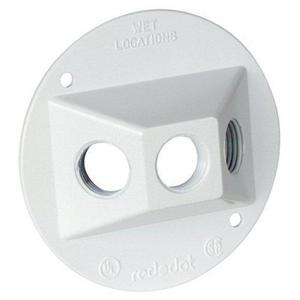 """Red Dot DSS-3-WH Weatherproof Round Cover, (3) 1/2"""", Diameter: 4-1/8"""", Aluminum"""