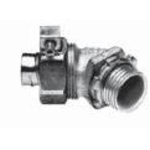 "Appleton STB-45150 Liquidtight Connector, 1-1/2"", 45°, Insulated, Steel/Zinc"