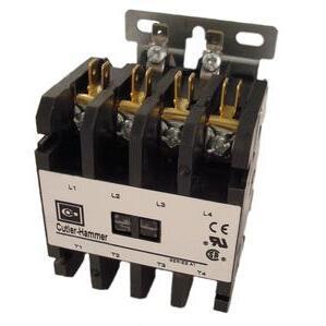 Eaton C25END430A Contactor, Definite Purpose, 4P, 30A, 120VAC Coil, Open