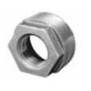 "Matco-Norca ZMBBU0704 Hex Bushing, 1-1/2 x 3/4"", Black, Malleable Iron"