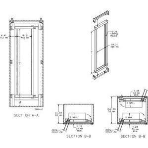 Hoffman A7230SOF19 Rack Frame 72.00x30.00 Full Sw