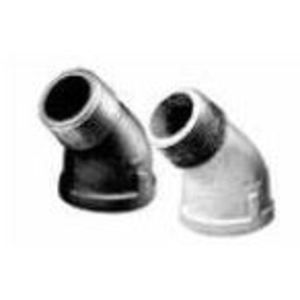 "Matco-Norca ZMBLST4503 Street Elbow, 45°, 1/2"", Black Malleable Iron"