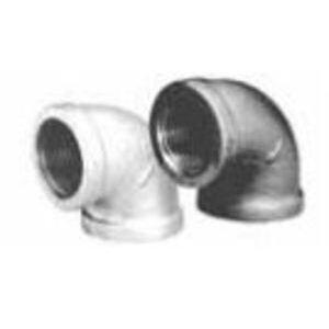"""Matco-Norca ZMBL9001 Pipe Elbow, 90°, 1/4"""", Black, Malleable Iron"""