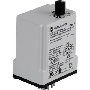 Square D 9050JCK26V20 Relay, Timer, 10A, 240VAC, 120VAC Coil, 11 Pin, 2PDT, Off-Delay
