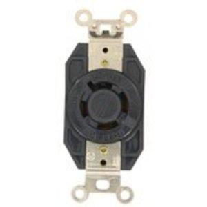 Leviton 2460 Locking Single Receptacle, 20A, 3PH Y 277/480V, 4P4W