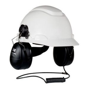 3M HTM79P3E Listen Only Headset, Intrinsically Safe, Hard Hat Attached