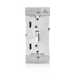 Leviton TSL06-1LW Toggle Dimmer, 600W, Locator Light, Toggle Touch, White