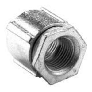 "Bridgeport Fittings 1122-AL Rigid Three-Piece Coupling, 3/4"", Threaded, Aluminum"