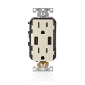 Leviton T5632-ST LEV T5632-ST 15A TR RECPT USB CHRG