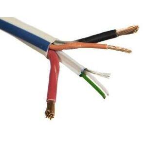 Omni Cable LT2-46L-5 Composite Cable, CL3P, 75 Deg Celsius, 300V, Plenum Rated, Blue Stripe