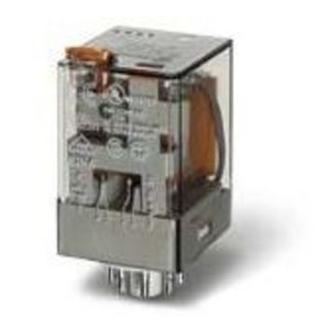 Finder Relays 60.12.8.120.0040 Relay, Ice Cube, 8-Pin, 10A, 2P, 24VAC Coil, Test Button, Indicator