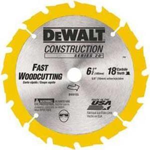 """DEWALT DW9155 6-1/2"""" Circular Saw Blade"""