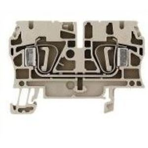Weidmuller 1632050000 Terminal Block, Feed Through, 4mm, Dark Beige, Z-Series