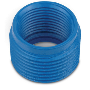 "Ocal RE32-G Reducing Bushing, Size: 1"" x 3/4"", Blue, Steel/Urethane Coated"