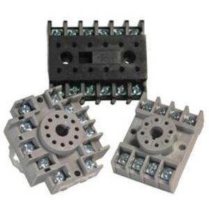 Time Mark 51X016 Socket, 11-Pin, Tube Base, Open Screw Terminals, No Clip, 10A