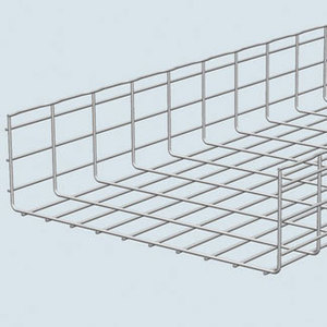 "Cablofil CF150/600EZ Wire Basket Cable Tray, 6"" High, 24"" Wide, 10' Long, Electro-Zinc"