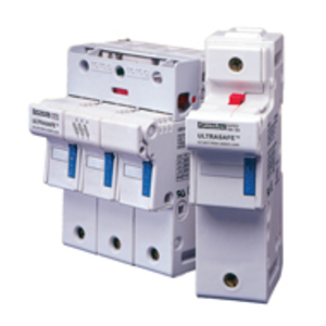 Mersen US142 Fuse Holder, Ultrasafe, 50A, 750V AC/DC, 200kAIC, 2P, 14x51mm