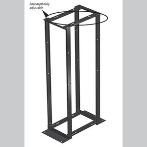 "Hoffman E4DRS19FM45U Equipment Rack, Floor Mount, 4 Post, Open Frame, 7'H, 19""W, 45U"