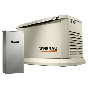 Generac 7043 Generator, Standby, 22kW, 120/240VAC, 200A, 1PH,Transfer Switch