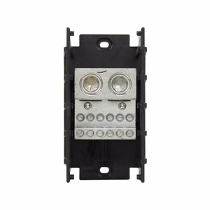 Eaton/Bussmann Series 16530-1 Power Distribution Block, 1-Pole, Double Primary - Multiple Secondary