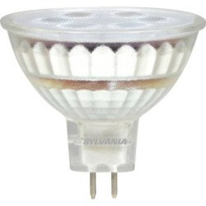 SYLVANIA LED6MR16/DIM/830/FL35/GL/RP LED Lamp, MR16, 6W, 12V, 3000K, 450 Lumen