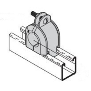 "Cooper B-Line B4091SS4 Insulclamp Cable Clamp, 4-1/4"", Thermoplastic With Stainless Steel Pipe Straps"