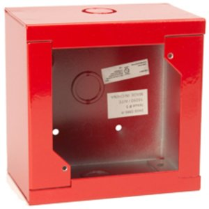 "Edwards 2459-SMB-R Square Surface Box, Red, Welded, Depth: 2-3/4"", Metallic"