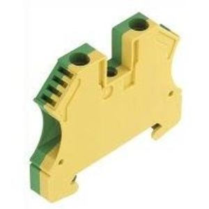 Weidmuller 1010200000 Terminal Block, Green/Yellow, W-Series, PE, 6mm, Screw Connection