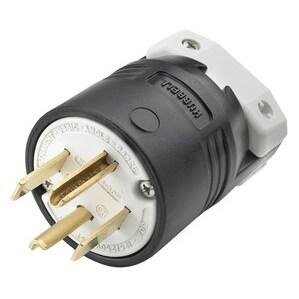 Hubbell-Kellems HBL9431C Straight Blade Device Plug, 30A, 125/250V