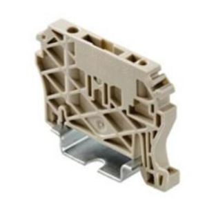 Weidmuller 9540000000 Terminal Block, End Anchor, 6mm Width, Dark Beige, Snap-on