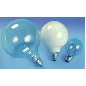 SYLVANIA 40G40/RP-120V Incandescent Bulb, G40, 40W, 120V, Clear