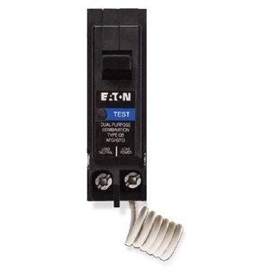 Eaton BRAFGF120 Breaker, 20A, 1P, 120VAC, 10 kAIC, Type BR Combo AFCI/GFCI