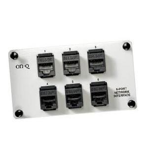 ON-Q AC1000 6 Port Netwrk Interface W/mod Jacks