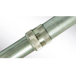 """Allied Tube & Conduit 905635 IMC Conduit, 3"""", Galvanized Steel, 10', Kwik Couple"""