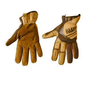 Klein 40227 Journeyman Leather Utility Gloves, Large