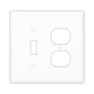 Eaton Arrow Hart PJ26LA Wallplate 2g Duplex/blank Poly Mid Wh