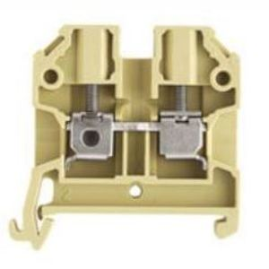 Weidmuller 0443660000 Terminal Block, Feed Through, 4mm, Beige/Yellow, SAK-Series