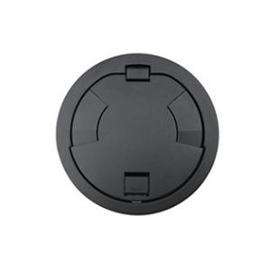 "Wiremold 6CT2BKTR Tamper-Resistant Flush Style Cover Assembly, 7-1/4"", Black"