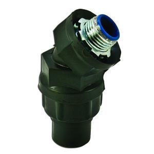 "Plasti-Bond PR5342 Liquidtight Connector, 45°, 1/2"", PVC Coated Steel"