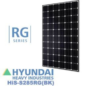 Hyundai HIS-S285RG(BK) 285 Watt Mono, 60 Cell, Black Back Sheet, Black Frame