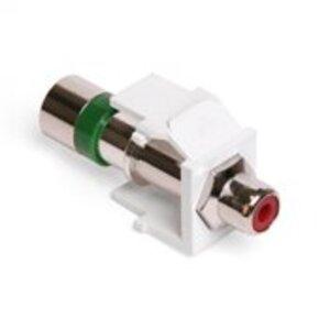 Leviton 40782-RRW RCA Compression Connector, RG6 Quad, Red