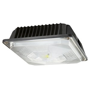 Cree Lighting C-CP-A-SQ-49L-40K-DB LED Canopy, 120-277V, 4900L, 4000K, Dark Bronze