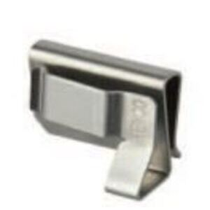 """Heyco S6479 Cable Clip, 90°, SunRunner Series, Double Wire, Wire Range 0.33"""", Stainless Steel"""